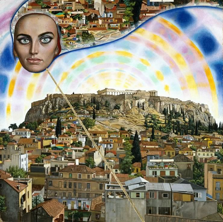 Athens Angel - portrait by Mati Klarwein - 1960's