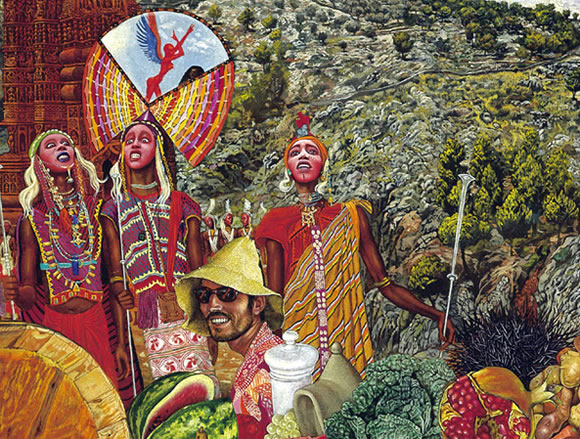 detail of Annunciation by Mati Klarwein, album cover art for Abraxas