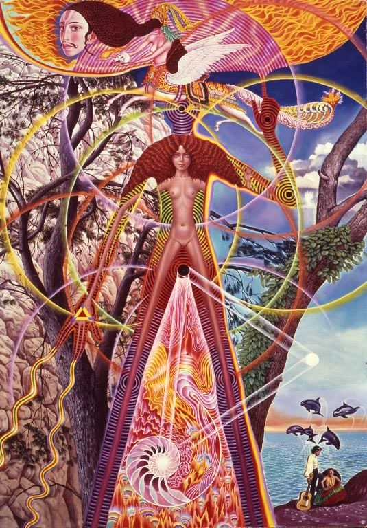 Astral Body Awake - Mati Klarwein - 1969