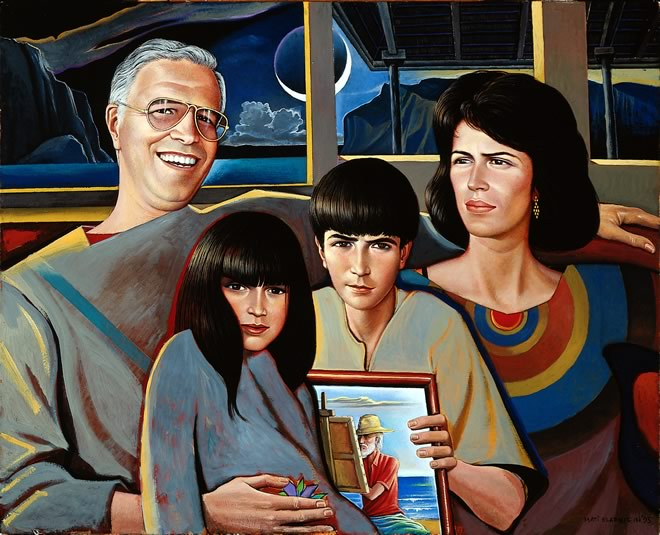 Barcelo Family - portrait by Mati Klarwein - 1959