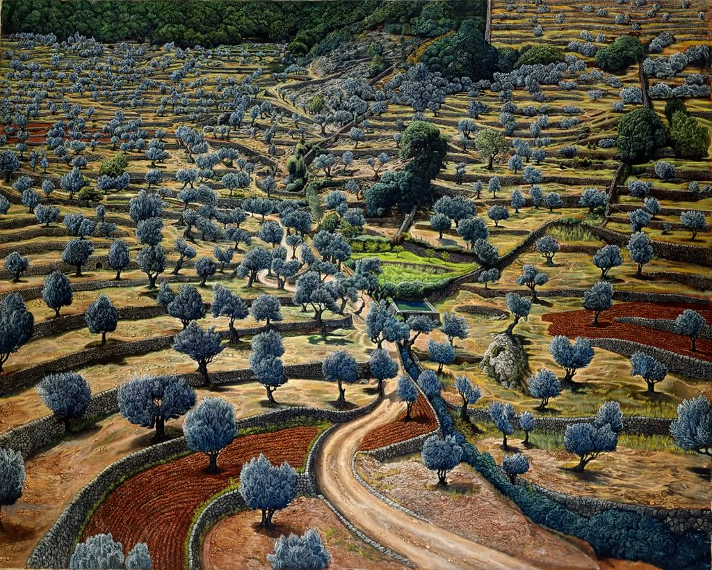 landscape painting by Mati Klarwein - Camouflage
