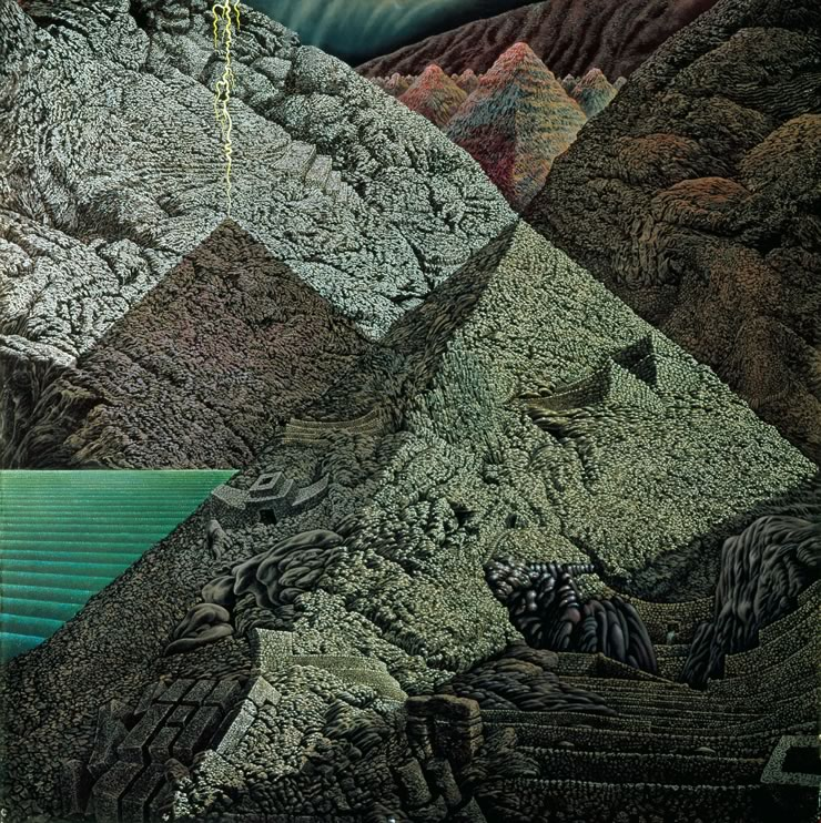 surreal landscapes by Mati Klarwein - Great Pyramid