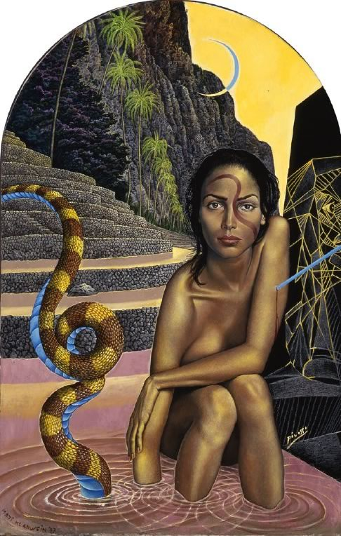 Illusion, Projection and Reality by Mati Klarwein - 1997