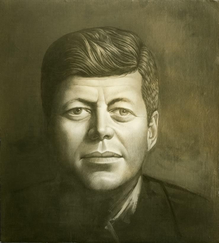 John And Jacqueline Kennedy Portrait John f Kennedy Portrait by