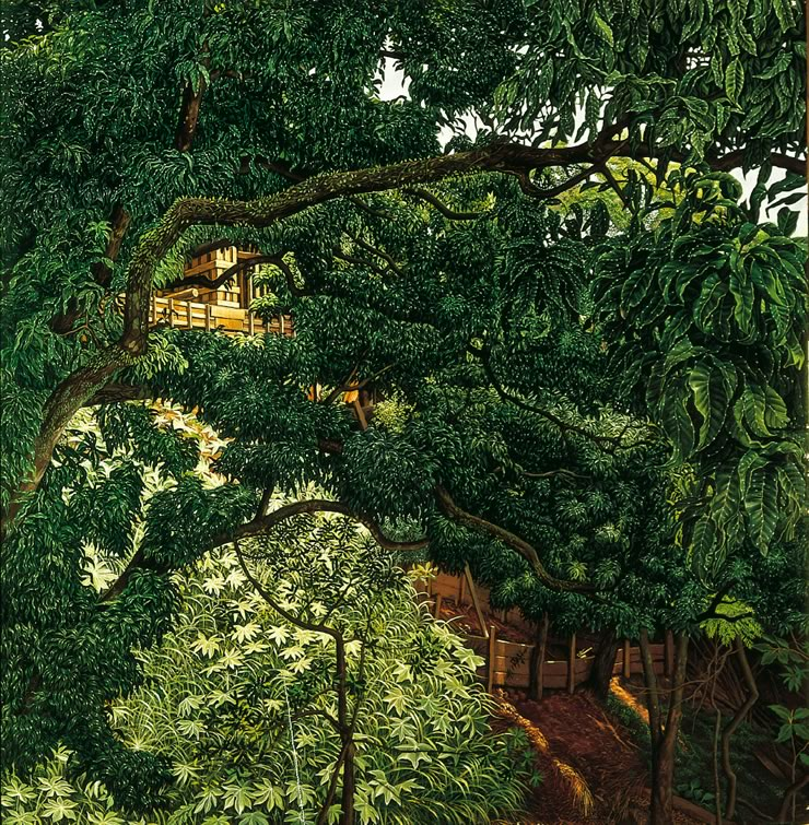 landscape paintings by Mati Klarwein - Mango Tree