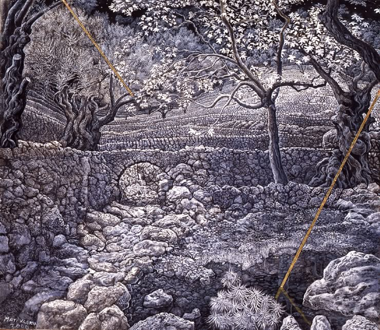 fantasy landscapes by Mati Klarwein - Moonlight