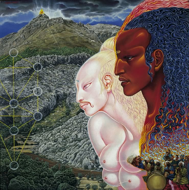 Moses and Aaron - Mati Klarwein - 1971
