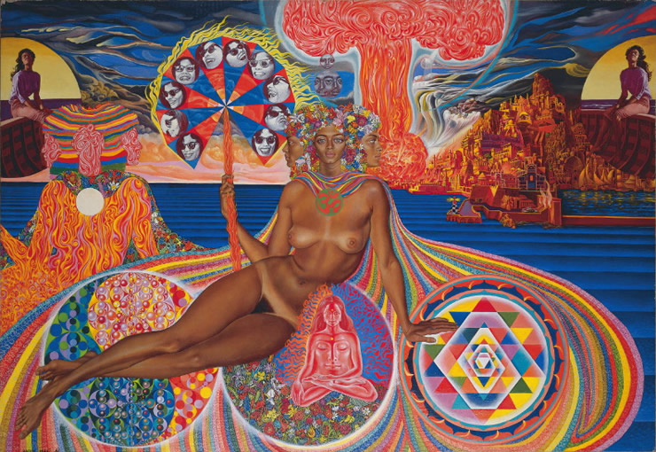 Nativity - visionary art by Mati Klarwein - 1961