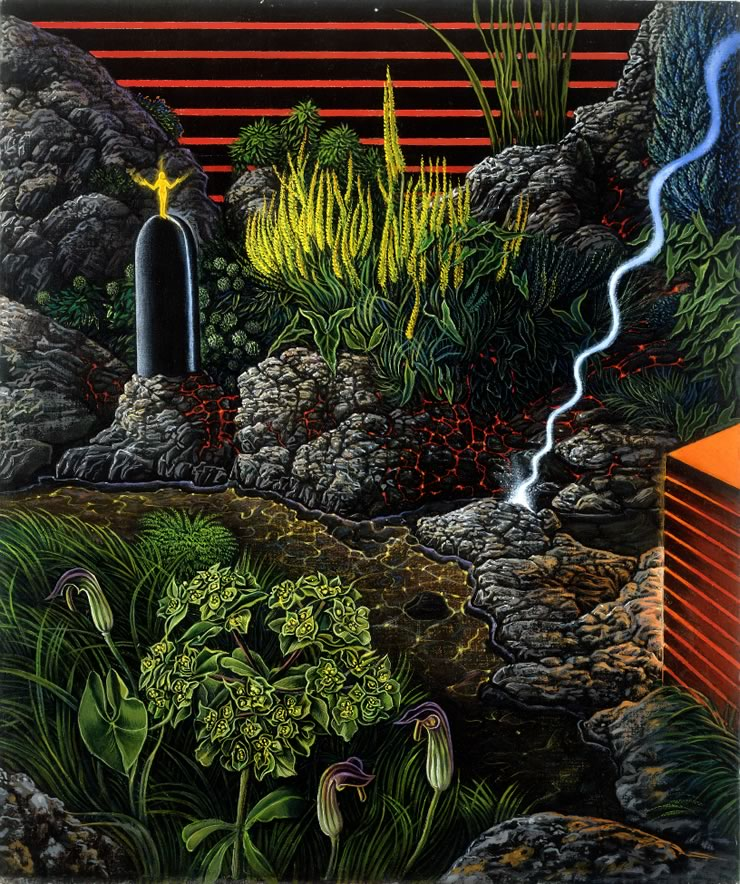 fantasy landscapes by Mati Klarwein - Power Spot