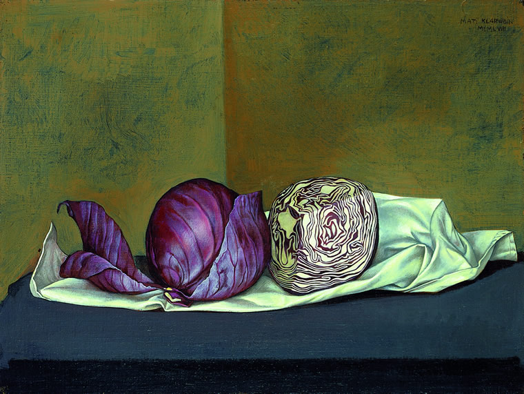 Still Life with Red Cabbage - Mati Klarwein - 1958