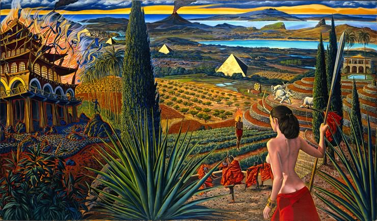 surreal landscapes by Mati Klarwein - Visit