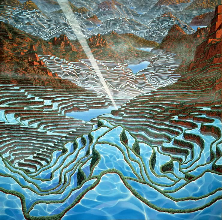 fantasy landscapes by Mati Klarwein - You're Next