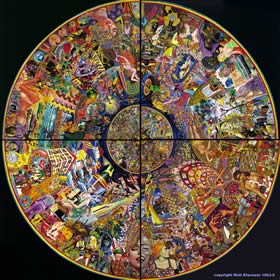 Grain of Sand by Mati Klarwein (1963-1965); psychedelic and visionary art