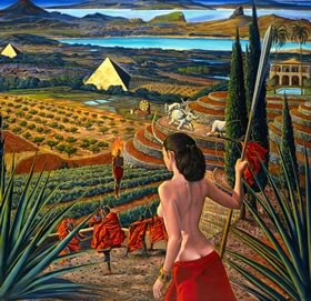 Visit by Mati Klarwein - surreal landscapes