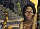 surrealist and visionary art by Mati Klarwein - Illusion, Projection and Reality (1997)